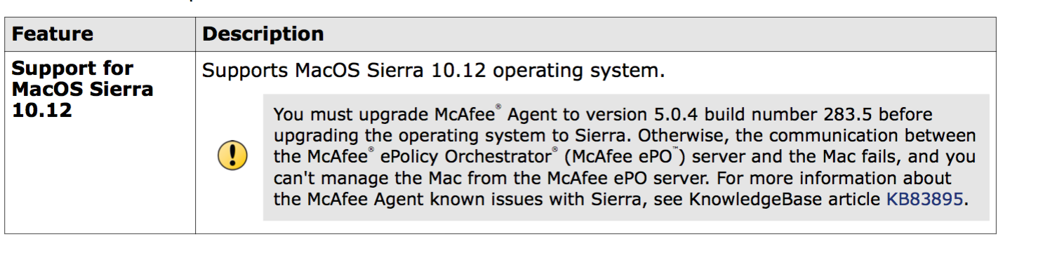 Mcafee Agent For Mac Os X