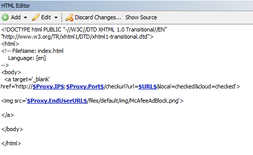 Solved: McAfee Support Community - Dynamic link on a block page