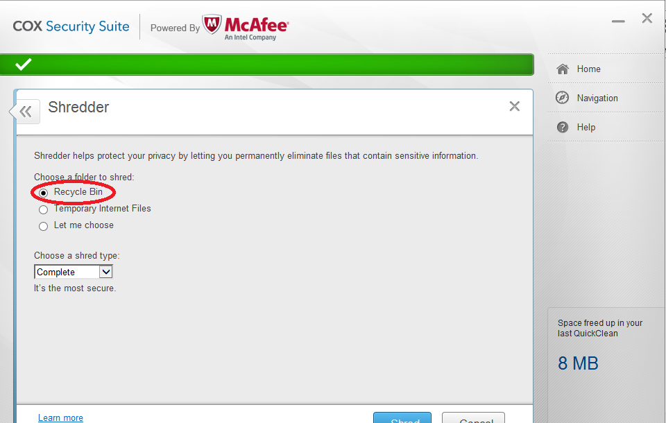 McAfee Support Community - Shredder Not Working - McAfee